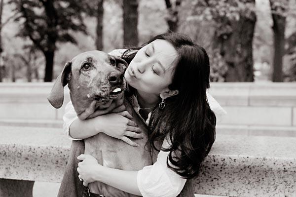 "NYC-Dog-Engagement-Portraits, ""Rhodesian Ridgeback"""