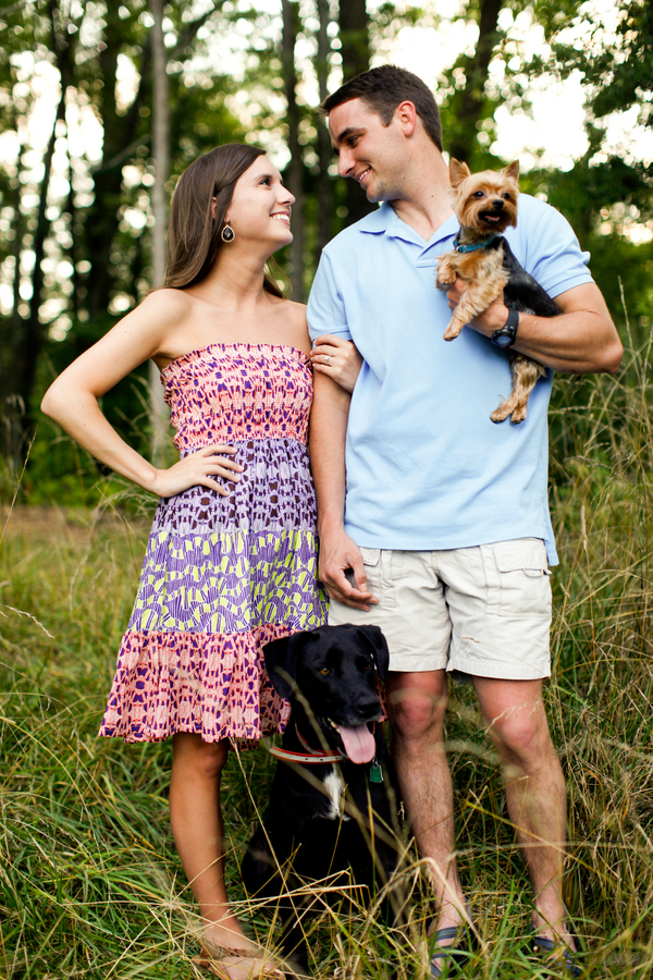 Brody's and Jake' s Happy Tails:  An Engagement Session