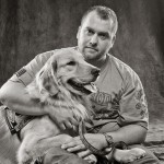 Veteran and service dog. Patriot Rovers