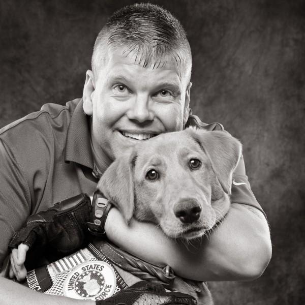 Veteran and service dog, © Simon Photographic | Patriot Rovers