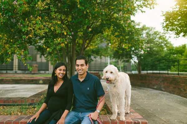 Labradoodle and family, Chapel Hill