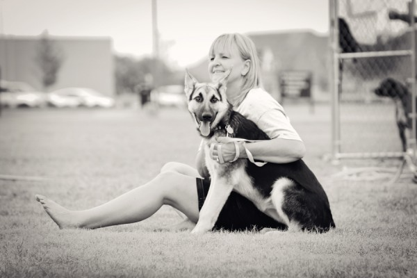 Oklahoma-portraits, German-shepherd-and-woman, candid-portraits