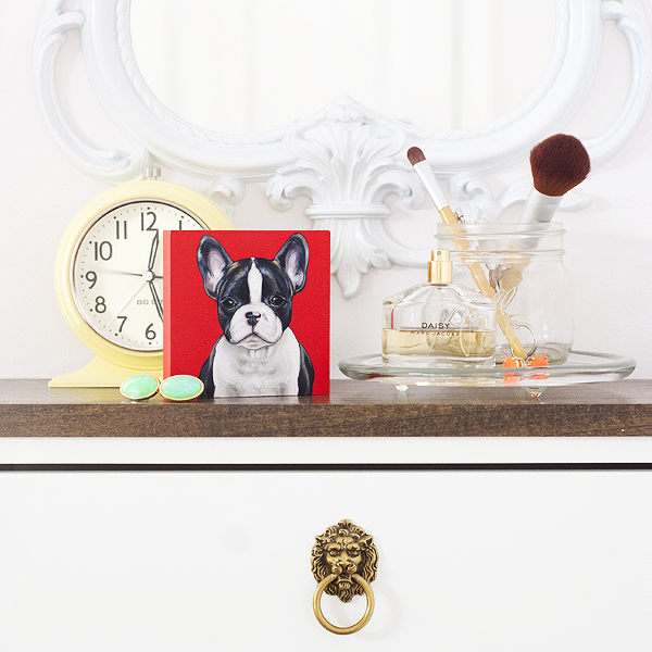 Boston-Terrier-custom-painting, supporting-animal-rescue