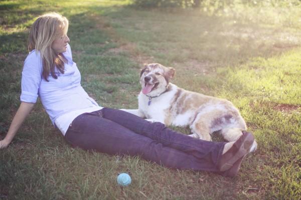 girl-dog-at-park  rescued-dog
