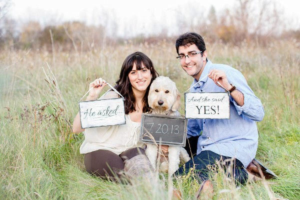 © Leo Timoshuk Photography, save-the-date-with-poodle-Lab-mix