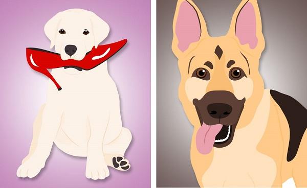 © Hot Dog Digital Pet Art, whimsical-dog-art