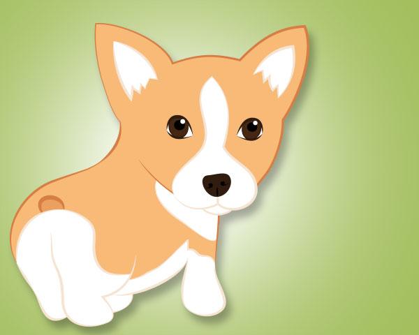 © Hot Dog Digital Pet Art, cheery-Corgi-illustration