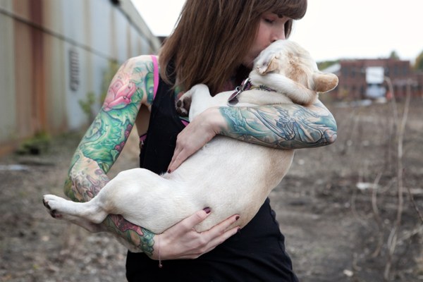 Frenchie-and-woman, canine-human-bond