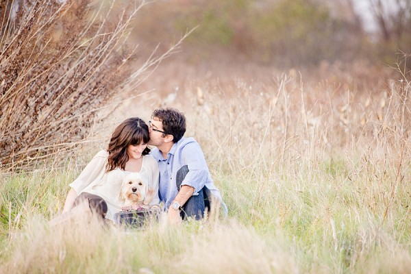 © Leo Timoshuk Photography. Save-the-date-with-Lab-Poodle-mix