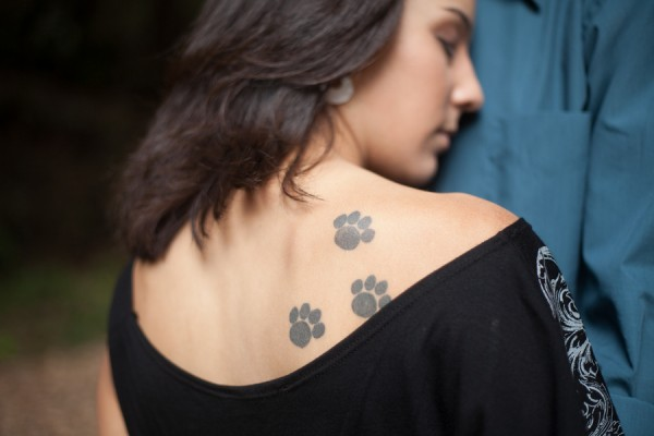 © Kim J Martin Photography, dog-paw-print-tattoo