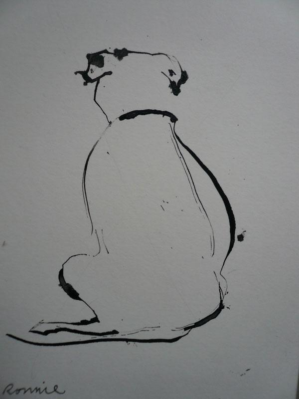 © Sally Muir, dog-painting