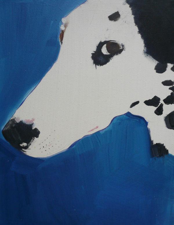 © Sally Muir, Dalmatian-painting