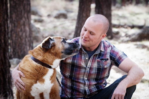 © Tangled Lilac Photography, bffs, man-and-dog, Flagstaff-dog-photography