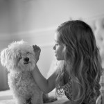 best friends: girl and maltese