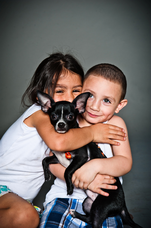 kids and puppy, Sacramento portrait photography