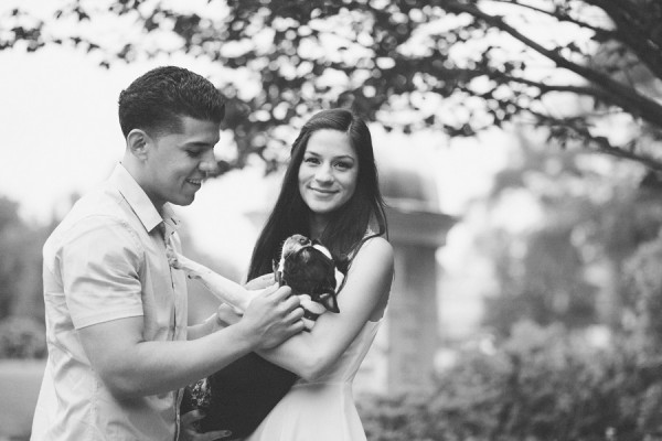 © Tiffany Tcheng Photography, Boston-Terrier-and-Engaged-Couple