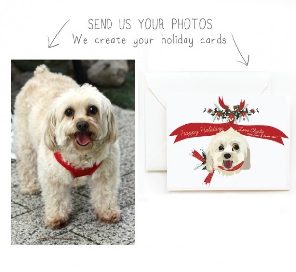 © Two Brunettes, dog-Christmas-custom-portrait-and-holiday-cards