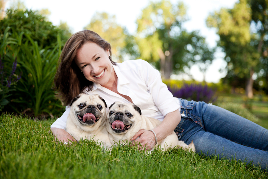© April O' Hare Photography, | Daily Dog Tag | Woman and  Pugs