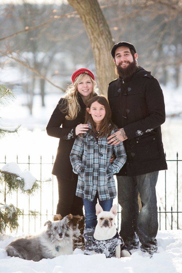 © Sarah Heppell Photography | Daily Dog Tag | Family Portrait with Frenchie and Sheltie