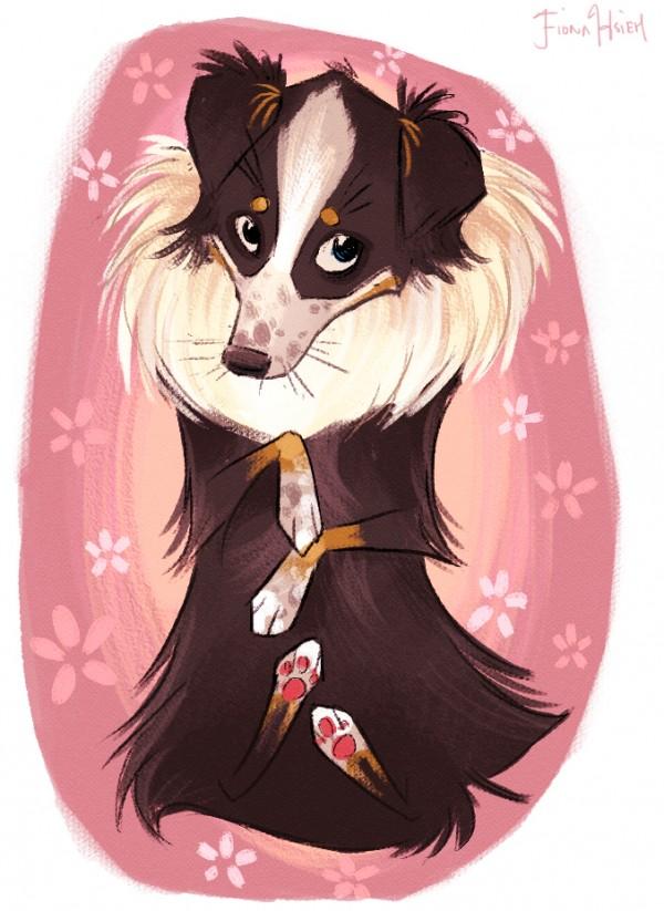 © Fiona Hsieh | Daily Dog Tag | custom dog portraits