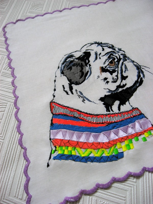© Studio Legohead | Daily Dog Tag | Pug-embroidered-pet-portrait