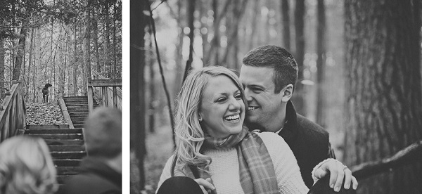© Patrick Hadley Photography    Daily Dog Tag   Michigan-Woods-Engagement-session-with-dog