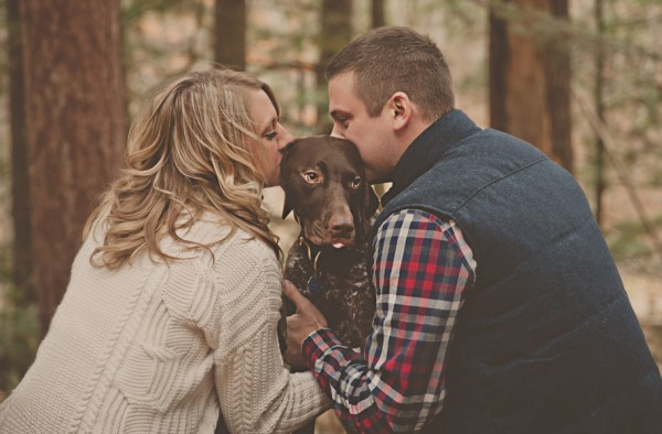 © Patrick Hadley Photography    Daily Dog Tag   Handsome-German-Shorthaired-Pointer-and-family-in-woods