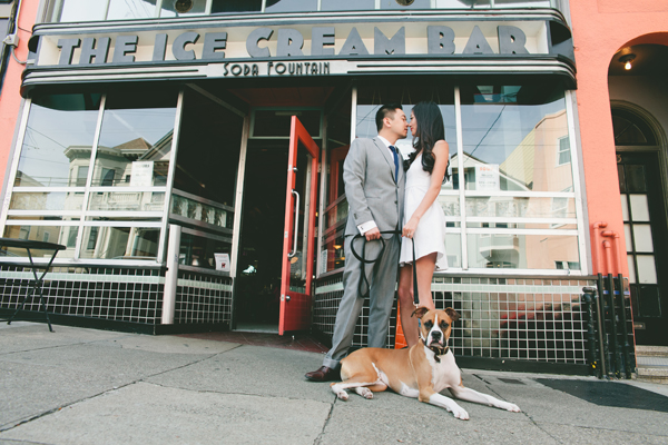 © Vivian Sachs Photography | Daily Dog Tag | Contemporary- Engagement-session-with-dog