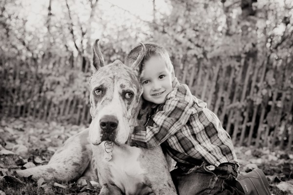 Paw Prints | Pet Portraits by Charlene  | Daily Dog Tag | boy and his dog