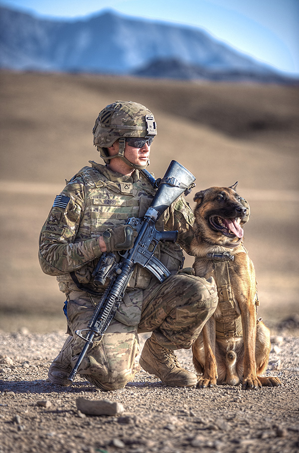 © G Dhiman Photography | Daily Dog Tag | Military Working Dog and  US Soldier