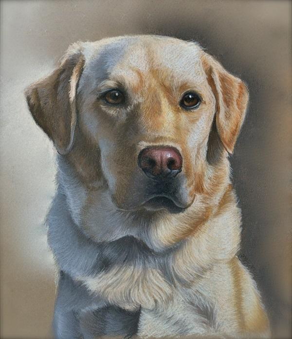 Black Labrador Dog Painting