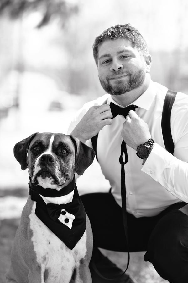 © Custom Portraits by Charlene | Daily Dog Tag | Handsome-guys, man's-best-friend
