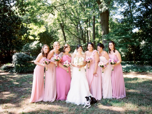 © Sarah Der Photography | Daily Dog Tag | Outdoor-wedding-bridal-party, Boston-Terrier