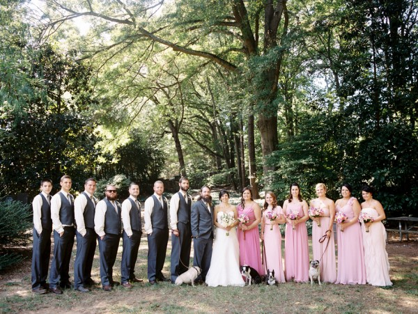 © Sarah Der Photography | Daily Dog Tag | Bridal-party-and-4-dogs