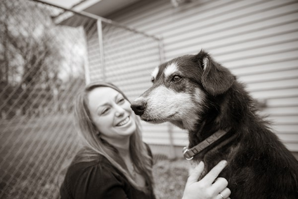 © Jessica Painter Photography | Daily Dog Tag | shelter-dog-and-volunteer