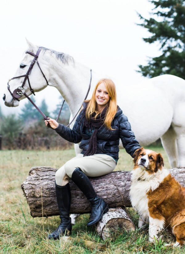 © Kirstie Marie Photography   Daily Dog Tag   Handsome-dog, horse-and-girl