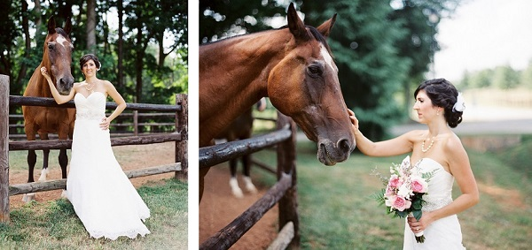 © Sarah Der Photography | Daily Dog Tag | bride-and-horse