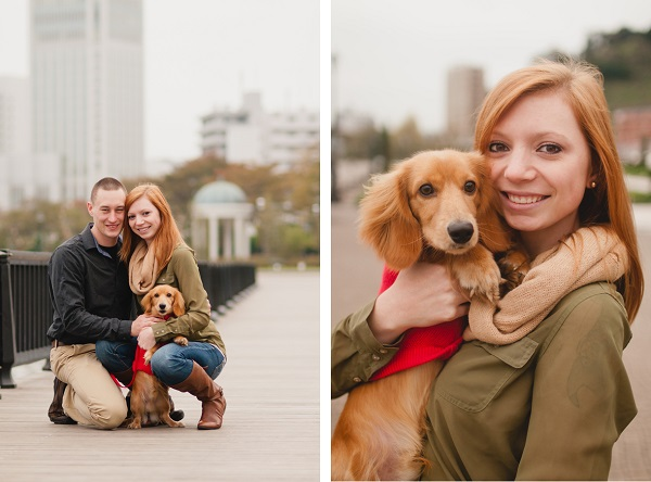 © Oeil Photography | engagement-photos with dog, girl and her dog,