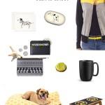 Digging-This-Style-Back-To-School-Dog-Mom-2014, dog-stationery, dog-eraser, sweater, black-coin-purse, tennis-ball-cookie, yellow-dog-bed, graphite-dog-feeder, black-ceramic-Heath-mug