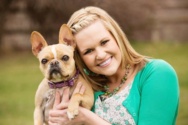 © Brandon Burk Photography   Daily Dog Tag   on-location-lifestyle-portraits, girl-and-her-dog, Frenchie