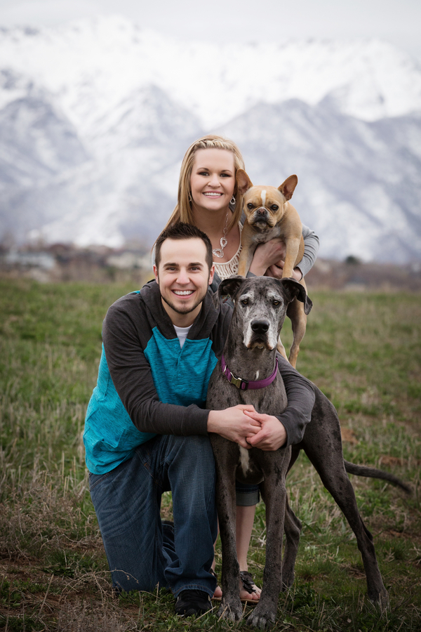 © Brandon Burk Photography   Daily Dog Tag   on-location-engagement-photos-with-Great-Dane, French-Bulldog