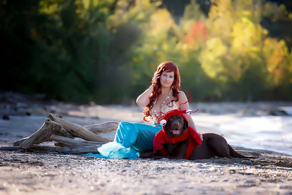 © Black Box Photography | Little Mermaid costumes, dog-in-crab-costume