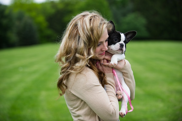 © Brittany Anderson Photography | Girl and her dog, French Bulldog