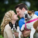 engagement-pictures-with-English-Bulldog-Frenchie