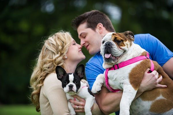 © Brittany Anderson Photography, Engagement-photos-with-Bulldogs