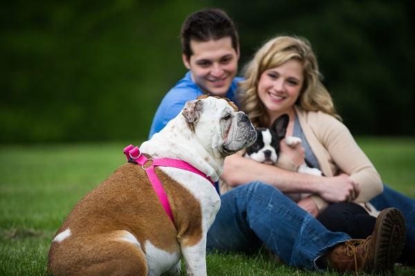 © Brittany Anderson Photography, engagement photos with dogs