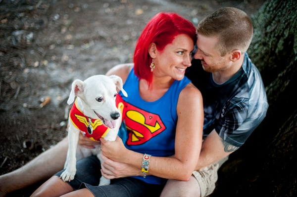 © Jules Photography | superhero themed engagement  session