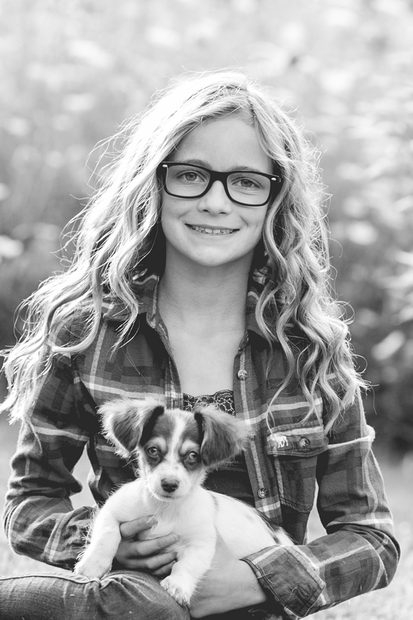 © Paw Prints- Pet Portraits by Charlene | Doxie/Chihuahua mix and girl