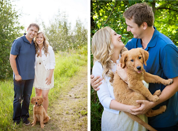 © Creationsphoto | engagement-photos-with-puppy