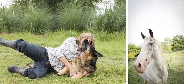 © Tangled Lilac Photography | family-pet-lifestyle-photography, woman, GSD and horse